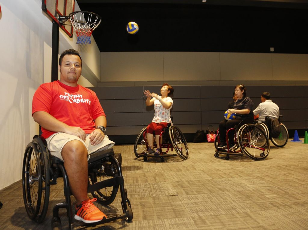 Their disability is no barrier to playing sports