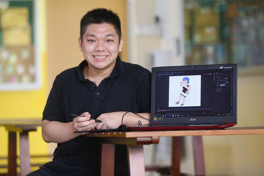 Love for animation helps illustrator with mild intellectual disability find the hero within
