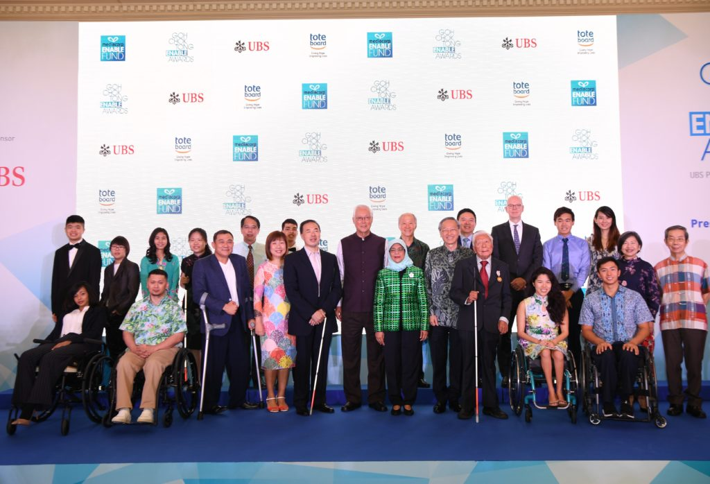 13 people with disabilities recognised at the Goh Chok Tong Enable Awards for their achievements